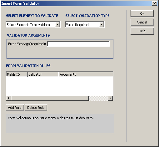 Form Validator Interface