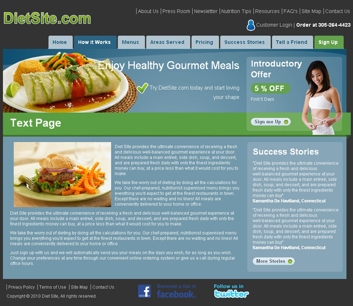 Food and Diet Web Template