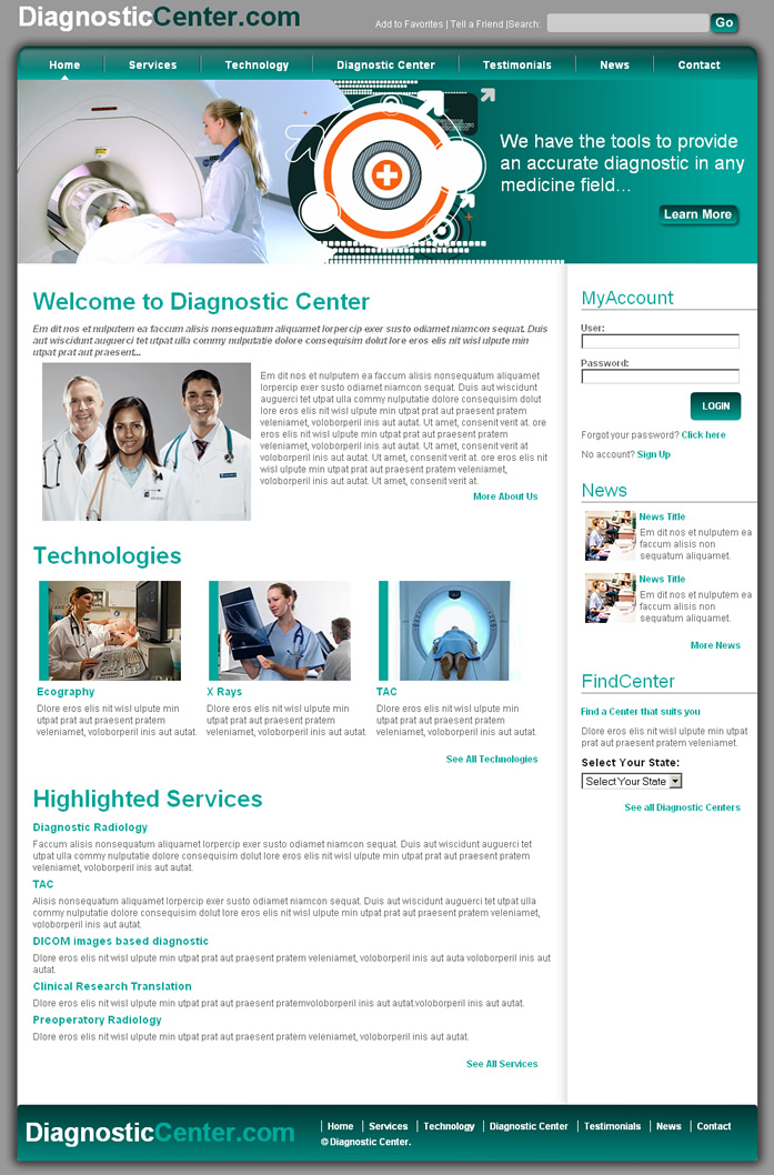Medical Center Dreamweaver Template