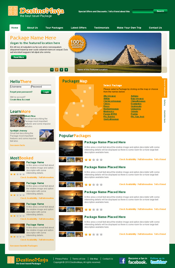 Travel Agency Dreamweaver Template